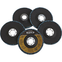 FREE SHIPPING — Klutch 4.5in. Flap Discs — 5-Pk., Type 29, 80 Grit