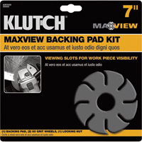 FREE SHIPPING — Klutch MaxView Backing Pad Kit — 7in. x 7/8in.