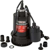 Ironton Submersible Water Pump with Float Switch and Auto On/Off — 1268 GPH, 1/8 HP, 1in. Port, Model# 108981