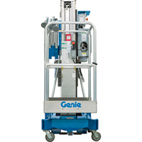 FREE SHIPPING — Genie DC Aerial Work Platform with Sliding Mid-Rail Entry — 24ft. 10In. Lift, 350-Lb. Capacity, Model# AWP 25 DC