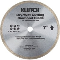 FREE SHIPPING — Klutch 7in. Continuous Rim Diamond Blade