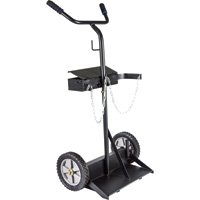 Northern Industrial Welders Compact Welding Cylinder Cart — 150-Lb. Capacity, Solid Wheels, Powder-Coat Finish