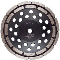 FREE SHIPPING — Klutch 4in. Double Row Diamond Grinding Cup Wheel