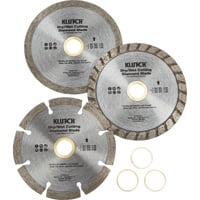 Klutch Assorted 4in. Diamond Blades — 3-Pk.