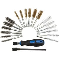 FREE SHIPPING — Klutch Bore Brush Set — 20-Pc.