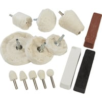 Klutch Aluminum Polishing Kit — 14-Pc.