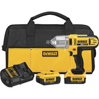 FREE SHIPPING — DEWALT 20V MAX Cordless Impact Wrench Kit with Detent Pin — 1/2in. Drive, 400 Ft.-Lbs. Torque, 2 Batteries, Model# DCF889M2