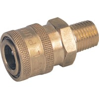 NorthStar Pressure Washer Quick Coupler — 1/4in. Male, 3000 PSI, Brass, Model# ND10002P