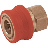 NorthStar Pressure Washer Insulated Quick-Connect Coupler — 1/4in. NPT-F, 5000 PSI, 12.0 GPM, Brass, Model# 2100381P