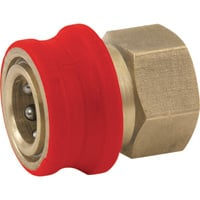 NorthStar Pressure Washer Insulated Quick-Connect Coupler — 3/8in. NPT-F, 4500 PSI, 12.0 GPM, Brass, Model# 2100384P