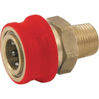 NorthStar Pressure Washer Insulated Quick-Connect Coupler — 3/8in. NPT-M, 4500 PSI, 12.0 GPM, Brass, Model# 2100384P