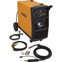 FREE SHIPPING — Klutch MIG 250S Flux-Core/MIG Wire-Feed Welder — 215V, 250 Amp