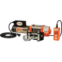 Keeper 110/120 Volt AC Powered Electric Utility Winch — 1500-Lb. Capacity, Galvanized Wire, Model# KAC15042