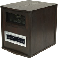 ProFusion Heat 6-Tube Infrared Quartz Heater with LED Display — 5200 BTU, Espresso Finish, Model# GD9315BCW-B6J (DS1005)