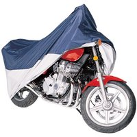 Classic Accessories MotoGear Motorcycle Cover – Large, Blue and Silver, Fits Motorcycles up to 1,100cc, Model# 65-005-033501-00