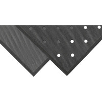 NoTrax Superfoam Anti-Fatigue/Safety Mat — 2ft. x 3ft., Black, Perforated, Model# T17P0032BL