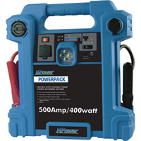 NPower Powerpack Emergency Power Source with Air Compressor — 500 Amps, 400 Watts