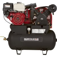 FREE SHIPPING — NorthStar Portable Gas Powered Air Compressor — Honda GX390 OHV Engine, 30-Gallon Horizontal Tank, 24.4 CFM @ 90 PSI