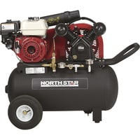 FREE SHIPPING — NorthStar Portable Gas-Powered Air Compressor — Honda 163cc OHV Engine, 20-Gallon Horizontal Tank, 13.7 CFM @ 90 PSI