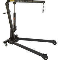 Ironton Hydraulic Engine Hoist — 1-Ton Capacity, 1in.–84 5/8in. Lift Range