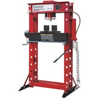 Strongway 40-Ton Pneumatic Shop Press with Gauge and Winch