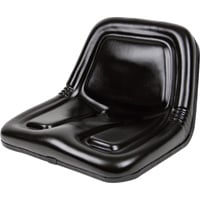 Black Talon Deluxe Midback Steel Pan Seat — Black, Model# 135001BK