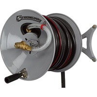 Strongway Parallel or Perpendicular Wall-Mount Garden Hose Reel — Holds  5/8in. x 150ft. Hose
