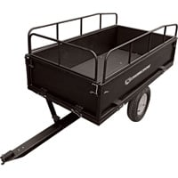 Strongway Steel ATV Trailer — 1200-Lb. Capacity, 17 Cu. Ft.
