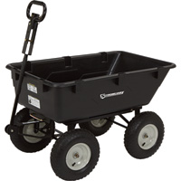 Strongway Poly Garden Wagon — 1200-Lb. Capacity, 39in.L x 25in.W