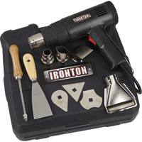 FREE SHIPPING — Ironton Dual Temperature Heat Gun Kit — 9-Pc.
