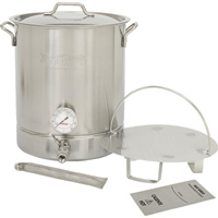 Bayou Classic 6-Pc. Stainless Steel Brew Kettle Set — 10 Gallon, Model# 800-410