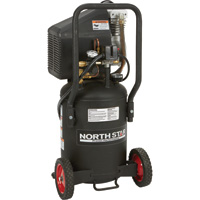 FREE SHIPPING — NorthStar Portable Electric Air Compressor —  1.5 HP, 8-Gallon Vertical, 3.0 CFM, Model# DD20N08VP