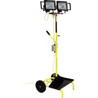 Fostoria Portable Dual Head Utility Cart Light Stand — Halogen, 1000 Watts, 22,000 Lumens, Model# PUL-1000Q-CD