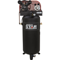 FREE SHIPPING — NorthStar Belt-Drive Stationary Air Compressor — 3 HP, 60-Gallon Vertical Tank