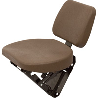 K & M Buddy Seat — For John Deere 6000 and 7000 Series Tractors, Brown, Model# 8191
