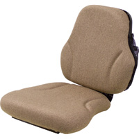 K & M Replacement Seat — For John Deere Tractors, Brown, Model# 8249