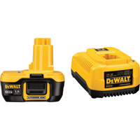 DEWALT 18 Volt XRP Lithium-Ion Battery and Charger— Extended Run Time, 2.0 Ah, Model# DC9182C