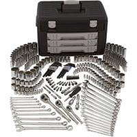 Klutch Mechanic's Tool Set — 245-Pc., 1/4in., 3/8in. & 1/2in. Drive