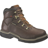Wolverine Men's Buccaneer Waterproof Steel Toe EH 6in. Work Boots — Brown, Model# W04820