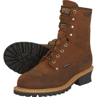 Carolina Waterproof, Insulated Logger Boots — 8in., Model# CA4821