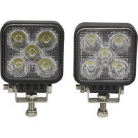 Ironton Mini LED Worklights — 2-Pk., 15 Watts, 1050 Lumens, 10–30 Volts