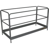 Metaltech BuildMan Guardrails System — Fits BuildMan Model I-IBMSS Drywall Baker Scaffolding, Model# I-BMSGR