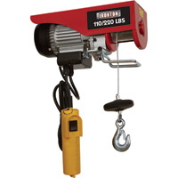 Ironton Double Line Electric Hoist — 110-lb. Single Line/220-lb. Double Line Lift Capacity