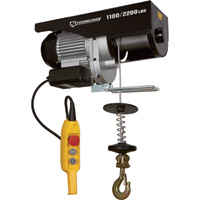 Strongway Electric Cable Hoist  — 1,100-Lb./2,200-Lb. Capacity