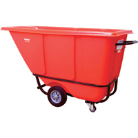 Wesco Poly Standard Tilt Cart — Red