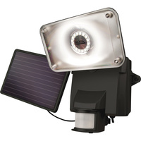 MAXSA Solar Security Video Camera with Floodlight — 16 LEDs, 879 Lumens, Model# 44642-CAM-BK