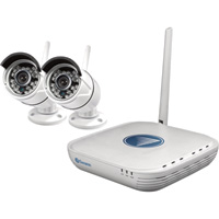 Swann Communications NVR Wi-Fi Security Kit — 2 Cameras, 500GB Hard Drive, Model# SWNVK-460KH2