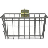 CargoSmart Small Wire Track Basket — 12in.W x 6in.D x 6in.H, Coated Steel, For E-Track and X-Track