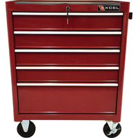 Excel 5-Drawer Rolling Metal Tool Chest — 26in.W, 650-Lb. Capacity, Model# TB2090BBS-B-Red