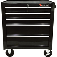 Excel 5-Drawer Rolling Metal Tool Chest — 26in.W, 475-Lb. Capacity, Model# TB2230BBS-C-BLACK